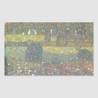 Adesivo Retangular Gustavo Klimt - casa de campo pela arte de