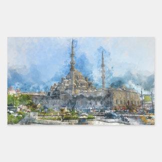 Adesivo Retangular Hagia Sophia em Istambul Turquia