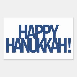Adesivo Retangular Hanukkah feliz