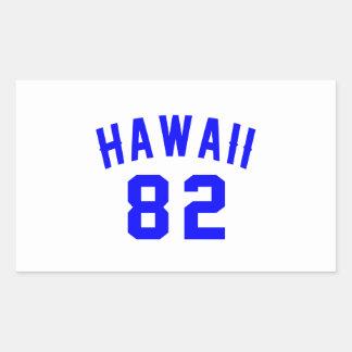 Adesivo Retangular Havaí 82 designs do aniversário