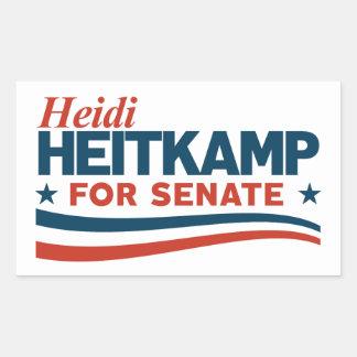 Adesivo Retangular Heidi Heitkamp para o Senado