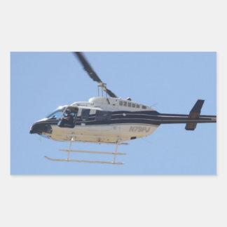 Adesivo Retangular Helicóptero