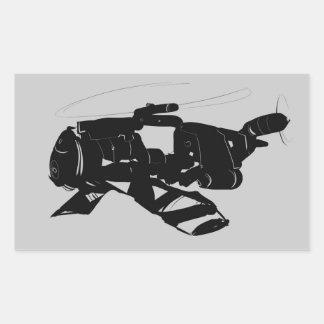 Adesivo Retangular Helicóptero de Robo