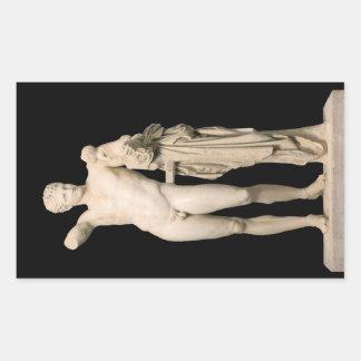 Adesivo Retangular Hermes e o Dionysus infantil