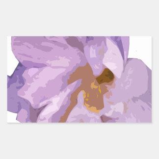Adesivo Retangular hibiscus