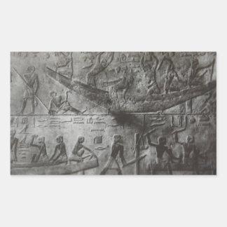 Adesivo Retangular Hieroglyphics egípcios