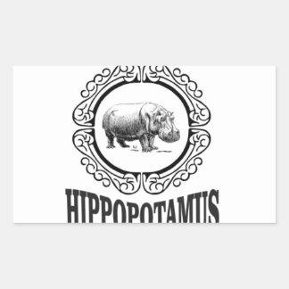 Adesivo Retangular Hipopótamo quadro