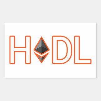 Adesivo Retangular HODL em seu Ethereum