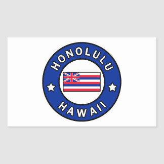 Adesivo Retangular Honolulu Havaí