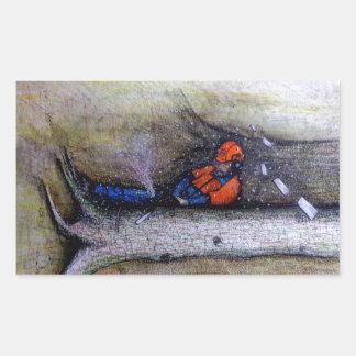 Adesivo Retangular Husqvarna do stihl do cirurgião de árvore do