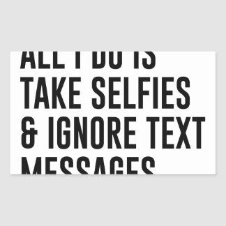 Adesivo Retangular Ignore textos
