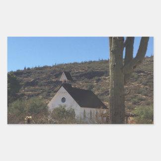 Adesivo Retangular Igreja ocidental velha