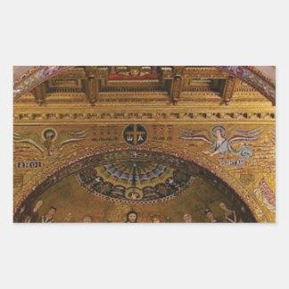Adesivo Retangular igreja ornamentado para dentro