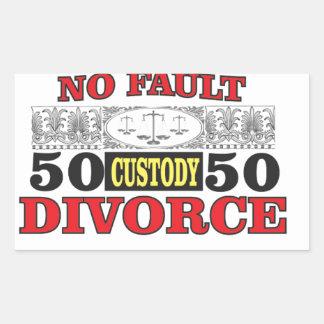 Adesivo Retangular igualdade 50 do divórcio 50 da no-falha