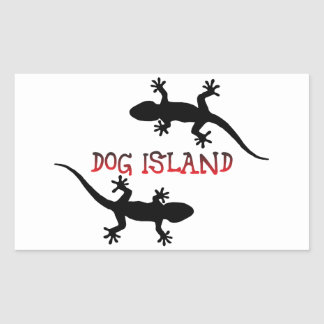 Adesivo Retangular Ilha Florida. do cão