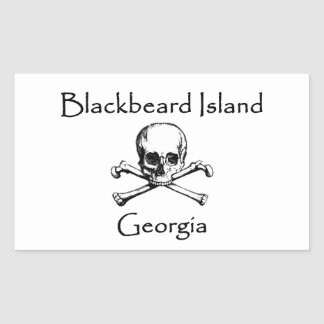 Adesivo Retangular Ilha Geórgia Roger alegre de Blackbeard