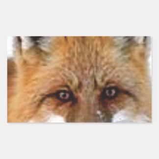 Adesivo Retangular imagem extravagante da raposa