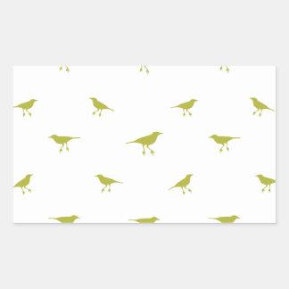 Adesivo Retangular Impressão da silhueta dos pássaros