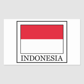 Adesivo Retangular Indonésia