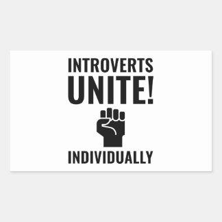 Adesivo Retangular Introverts unem-se