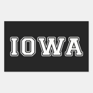 Adesivo Retangular Iowa