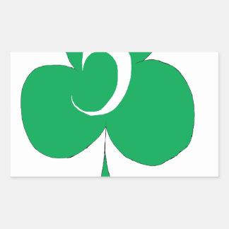 Adesivo Retangular Irlandês afortunado 5 dos clubes, fernandes tony