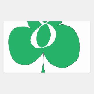 Adesivo Retangular Irlandês afortunado 8 dos clubes, fernandes tony