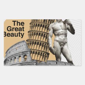 Adesivo Retangular Italia, a grande beleza