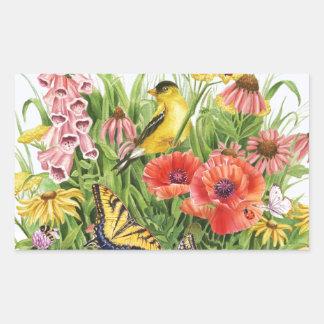 Adesivo Retangular Jardim do Goldfinch