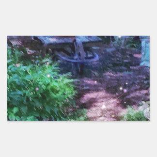 Adesivo Retangular Jardim secreto