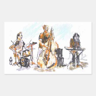 Adesivo Retangular Jazz concert Trio