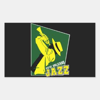 Adesivo Retangular jazz new orleans