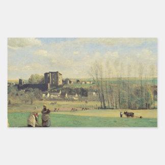 Adesivo Retangular Jean-Baptiste-Camilo Corot - paisagem