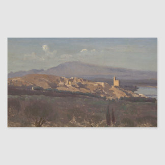 Adesivo Retangular Jean-Baptiste-Camilo Corot-Villeneuve-les-Avignon