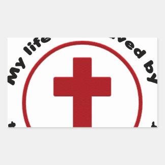 Adesivo Retangular jesus salvar, camisa cristã do presente t da