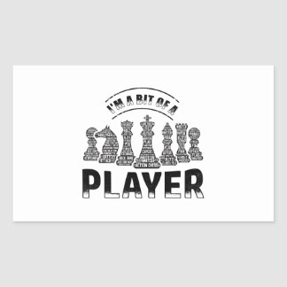 Adesivo Retangular Jogador de xadrez
