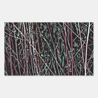 Adesivo Retangular Juncos multicoloridos no rosa e no verde