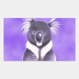 Adesivo Retangular Koala de Buddha
