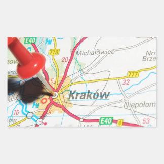 Adesivo Retangular Kraków, Krakow, Cracow no Polônia