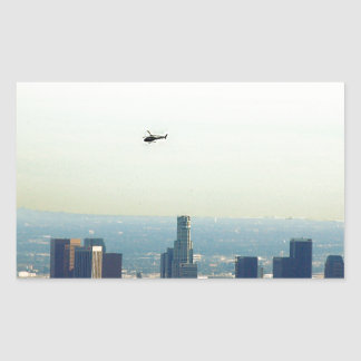 Adesivo Retangular LA e helicóptero