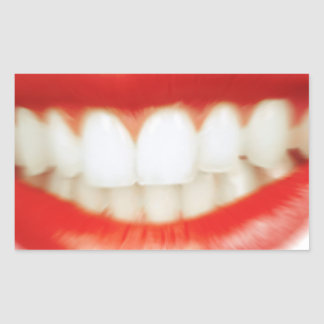 Adesivo Retangular Lábios vermelhos