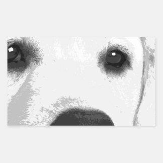 Adesivo Retangular Labrador retriever preto e branco