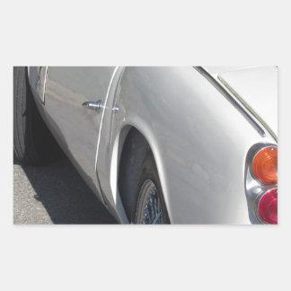 Adesivo Retangular Lado esquerdo de um carro clássico britânico velho