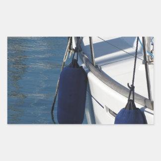 Adesivo Retangular Lado esquerdo do barco de navigação com os dois