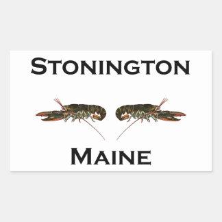 Adesivo Retangular Lagostas de Stonington Maine