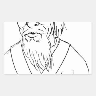 Adesivo Retangular Lao Tzu