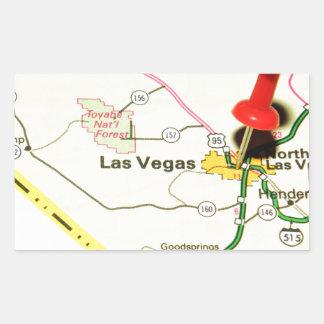 Adesivo Retangular Las Vegas, Nevada