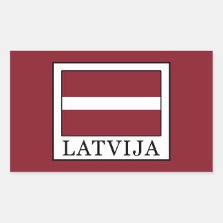 Adesivo Retangular Latvija