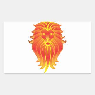 Adesivo Retangular Leão customizável do zodíaco de Leo do fogo