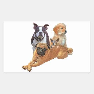 Adesivo Retangular Legião do cão com gato